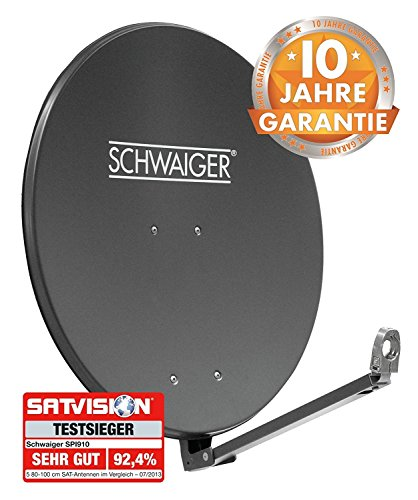 schwaiger 258 satellitensch ssel sat antenne mit lnb tragarm und masthalterung sat sch ssel. Black Bedroom Furniture Sets. Home Design Ideas