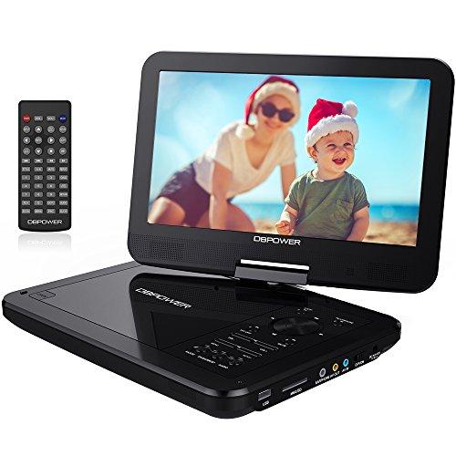 10 5 tragbarer dvd player mit wiederaufladbarer batterie. Black Bedroom Furniture Sets. Home Design Ideas