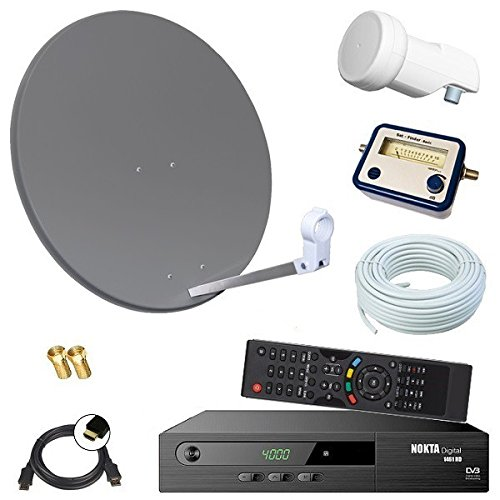digital sat anlage 60cm hd receiver 10m kabel opticum single lnb sat finder hd. Black Bedroom Furniture Sets. Home Design Ideas