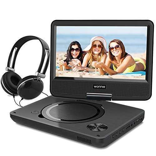 wonnie 9 5 tragbarer dvd player drehbares hd display 4. Black Bedroom Furniture Sets. Home Design Ideas