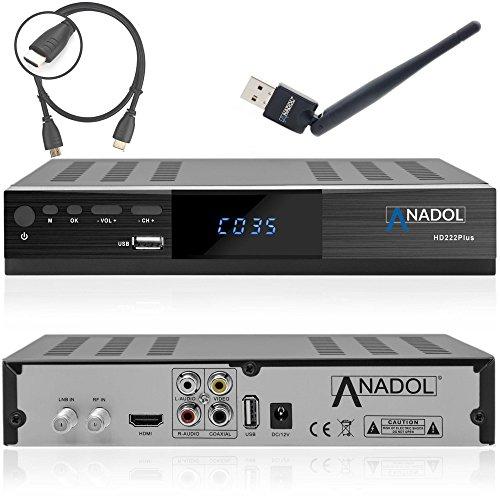 anadol hd 222 plus hd hdtv digitaler satelliten receiver. Black Bedroom Furniture Sets. Home Design Ideas
