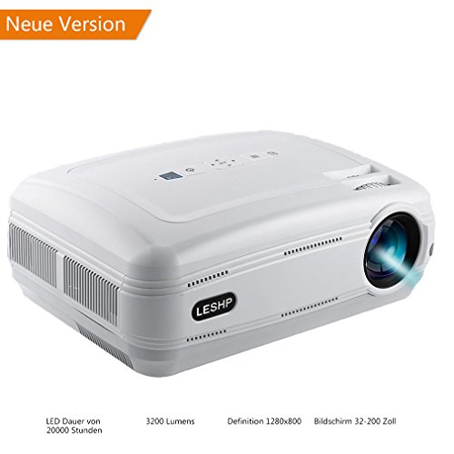leshp video beamer full hd 1080p lcd projector 1280 x 1920 h chste resolution 720p multimedia. Black Bedroom Furniture Sets. Home Design Ideas